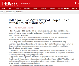 Fall Again Rise Again Story of ShopClues co-founder to hit stands soon